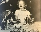 Little Girl With Nativity Set Christmas Card Photograph Picture Vintage