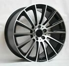 20 S63 STYLE BLACK WHEELS RIMS FITS MERCEDES BENZ C C240 C280 C320 C350
