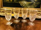 Set Of 4 Waterford Crystal Lismore Footed Iced Tea Glasses perfect shape