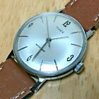 Vintage Timex Marlin Mens Water Proof Silver Hand-Winding Mechanical Watch Hours