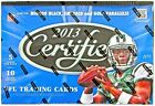2013 Panini Certified Football Hobby Box from a Sealed Master Case