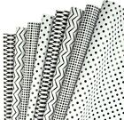 RUSPEPA Gift Wrapping Paper Sheet Classic Black and White Pattern for Birth