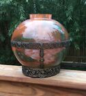 Lorrain French Art Glass Large Vase Very Pretty Celestial Colors