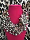 Betsey Johnson HUGE Butterfly Blitz Purple Black Pearl Cluster AB Necklace 195