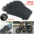 Motorcycle Scooter Inflatable Seat Cover Non slip Cushion Mesh Cloth Pad Black