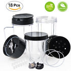 For Magic Bullet MB1001 250W Blenders Replacement Parts 18PC Cups Blade Lids New