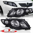 Black Clear OE Style JDM Head Lights Lamps Assembly For 2009 2010 Toyota Corolla