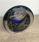 Incredible Rollin Karg Dichroic Art Glass Sculpture Large  Heavy Signed