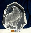 MATS JONASSON 28 LEAD CRYSTAL SIGNATURE COLLECTION 75 EAGLE PAPERWEIGHT