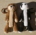 2 Pez Fuzzy Friends Candy Dispensers Panda & Brown Bear Keychains..Free Shipping
