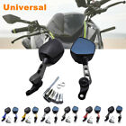 2PC Universal Motorcycle Scooter Mopeds CNC Aluminum Alloy Rearview Side Mirrors