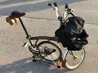 Brompton M6R Folding Bike Raw lacquer + Lots of extras  very good condition