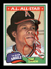 Rod Carew Autographed Auto Signed 1981 Topps Card #100 California Angels 178476