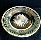 Antique Watson Crystal Cut Glass Sterling Silver Rim Plate 5 5 8