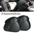 PU Motorcycle Saddle Bag Waterproof Covers Password Lock Anti theft Double Side