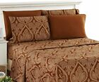 Lux Decor Collection Bed Sheet Set Microfiber 1800 Bedding Wrinkle Stain an