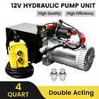 4 Quart Double Acting Electric Hydraulic Pump Dump Trailer Repair Power Unit