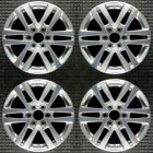 Buick Enclave Machined w Silver Pockets 18 OEM Wheel Set 2008 to 2016