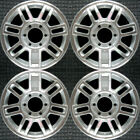 Hummer H3 Machined w Silver Pockets 16 OEM Wheel Set 2006 to 2010