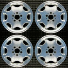 Mercedes Benz C230 Machined w Silver Pockets 15 OEM Wheel Set 1998 to 2000