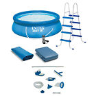 Intex 15 x48 Inflatable Pool with Ladder Pump and Deluxe Pool Maintenance Kit
