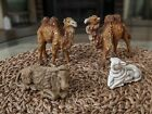 Vintage Nativity Camels X 2 Oxen x 1 Lamb x 1 Made in ITALY