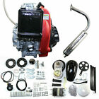 Bicycle Engine Motor Sets 4 Stroke 49CC Gas Petrol Motorized Scooter Links Recht