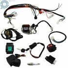 Complete Stator Wiring Harness CDI Ignition Coil Solenoid ATV Bike 50cc 125cc