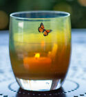 Glassybaby Emerge NIB Brand new Limited Edition Sold Out Amber w Butterfly