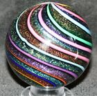 26 Diameter Beautiful Rainbow Dichroic Art Glass Marble from James Alloway