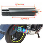 Black Gatling Moped Scooter Exhaust Muffler Pipe Gas Drive Turbo Tip Stainless