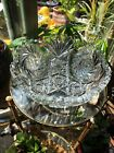 Stunning Vintage American Crystal Cut Glass Bowl Antique Candy Dish