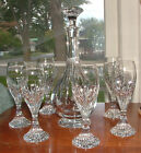 BACCARAT MASSENA CORDIAL DECANTER  6 LIQUEUR CORDIAL GLASSES MINT CONDITION