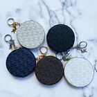 Michael Kors Jet Set Travel Round Coin Pouch Wallet Key Ring MK Signature