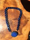 Estate Find Peking Blue Glass Necklace