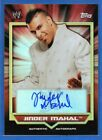 Jinder Mahal 2011 Topps WWE Autograph Classic Wrestling SSP RC Rookie Refractor