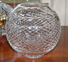 WATERFORD CRYSTAL LARGE GLANDORE DIAMOND ROSE BOWL VASE 5 3 4 MINT CONDITION
