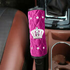 Car Bling Crystal Velvet Interior Trim Decor Diamond Crown Handbrakegear Cover