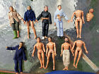 Lot of 15 MEGO LION ROCK 7 1970s WWII ACTION FIGURES w some clothes shoes caps