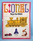 1965 Lionel Toy Catalog Trains Racing Cars Phonographs Chemistry Science Sets