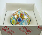 NEW MURANO MILLEFIORI BALL ORNAMENT ITALIAN ART GLASS OF VENICE MURANO ISLAND