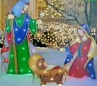 Nativity LED 50 Lights Holiday Decoration Set of 3 Easy Set Up Outdoor  Indoor