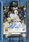 2019 Topps Now KESTON HIURA Auto Autograph Rookie Cup RC 99 - Brewers
