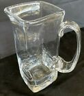 Signed Simon Pearce Hand Blown Art Glass Square Large Beverage Pitcher w Handle