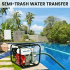 Gas Powered Water Pump Flood Irrigation 65 HP Portable Water Transfer 2 Inch