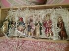 Lausch Glas Creation Germany Glass 7 Piece Nativity Ornament Set