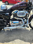 NEW CHROME 2 INTO 1PERF HEADER PIPES 4 HARLEY SPORTSTER XL 2004 THRU 2013