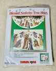 Dimensions Blessed Nativity Tree Skirt Counted Cross Stitch Kit 8379 Sealed USA