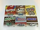 Hot Wheels Pop Culture Mars Candy Cars Complete Set of 6 Cars Mars Candy Bars