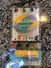 Art Glass Hand Crafted Angel Fish 6 Cocktail Forks  6 Swizzle Sticks Nib